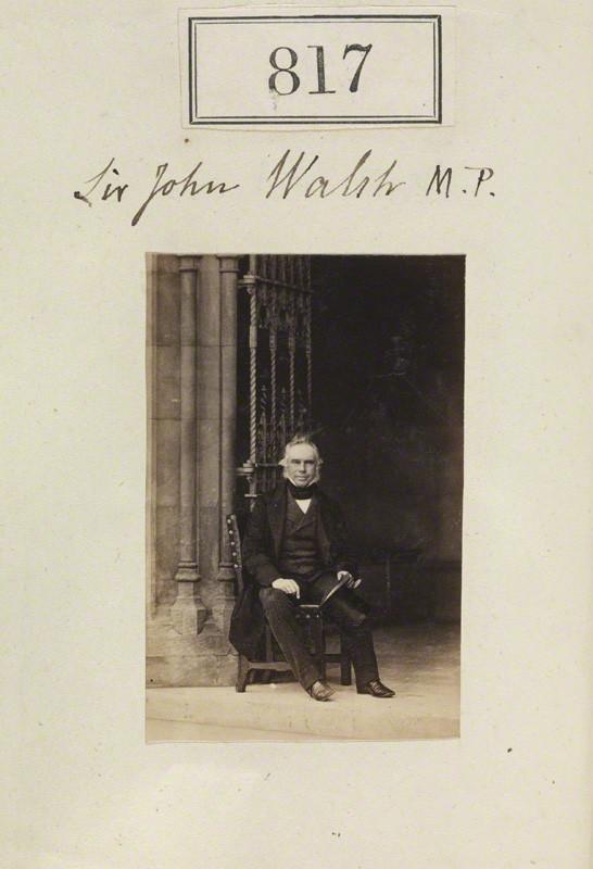 NPG Ax50423; John Benn-Walsh, 1st Baron Ormathwaite by Camille Silvy